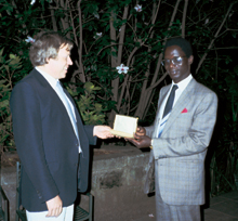 Peter Huebner with the director of the President of Kenyas music commission, Prof. Dr. Omondi