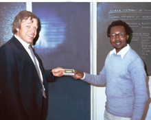 Peter Huebner with the leader of the institute of musicology from the University of Nairobi